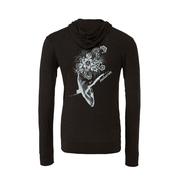 Flowers whale light sweatshirt