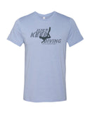 Heather blue diving t-shirts for men