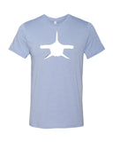 Heather blue hammerhead shark diving t-shirts