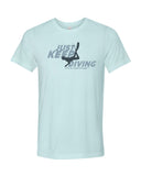 Ice blue diving t-shirts for men
