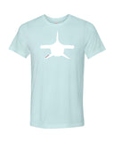 Heather ice blue hammerhead shark diving t-shirts