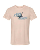 Peach-colored diving t-shirts for men