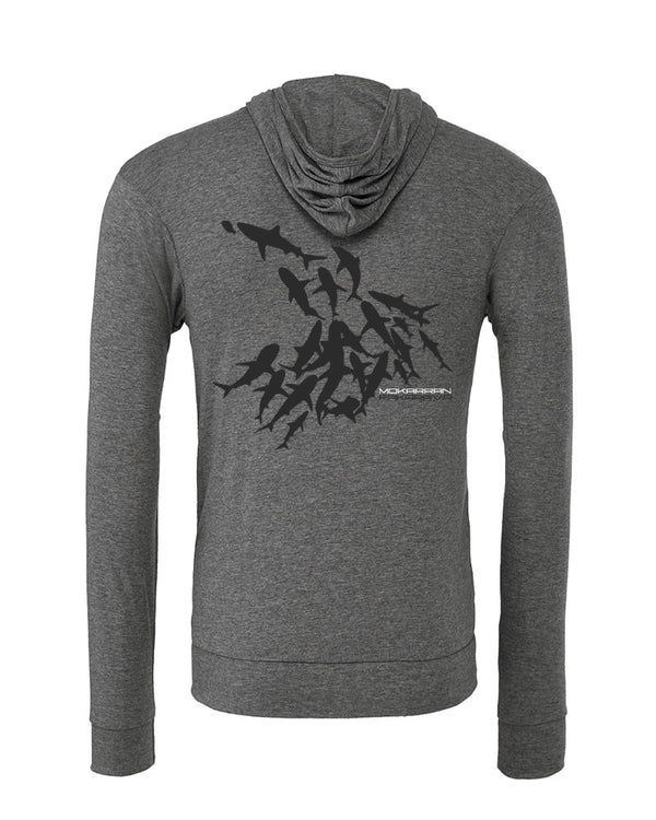 Sweat shirts plongée mur requin Fakarava gris