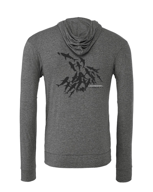Sweat shirts plongée mur de requin tahiti gris