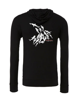Sweat shirts plongée mur de requin tahiti noir