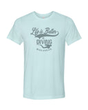 Life Is Better In Diving tee shirt bleu pour homme
