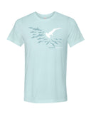 Tee shirt plongée requin marteau Be different bleu