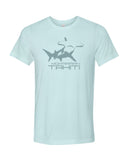 hammerhead shark diving t-shirt tahiti blue
