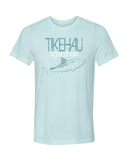Tiger shark diving t-shirt Tikehau Polynesia Blue