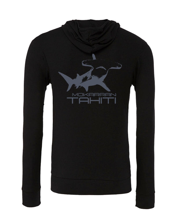Sweat shirts plongée requin marteau Tahiti noir