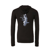 Women's shark and charcoal diver zip and hooded sweatshirts