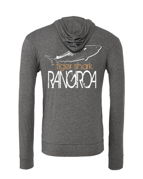 Sweat shirts plongée requin tigre Rangiroa gris