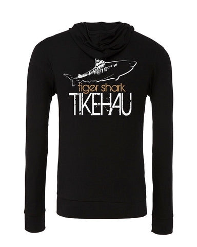 Sweat shirts plongée requin tigre Tikehau noir