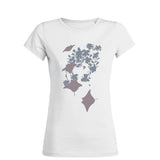 White manta ray round neck diving t-shirts