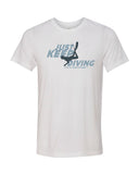 White diving t-shirts for men