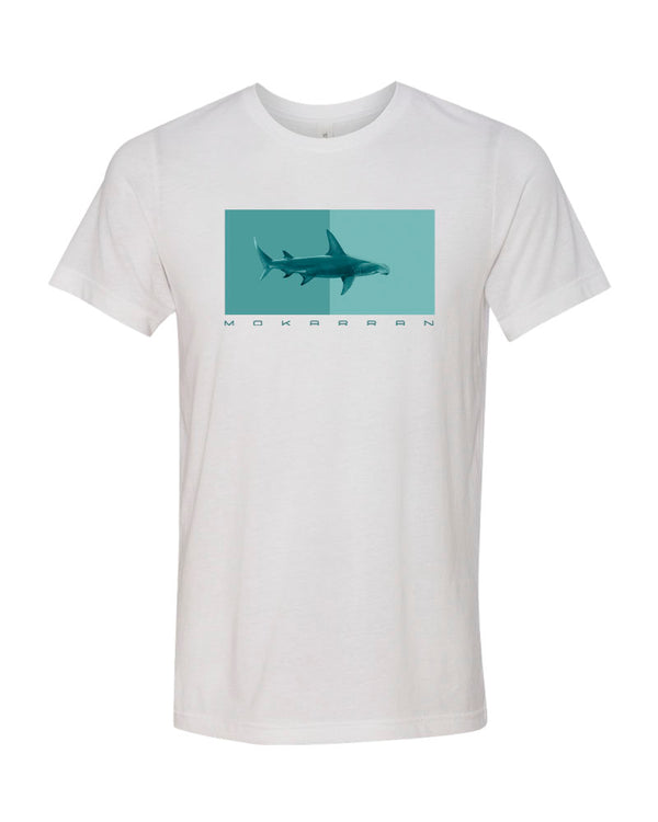 T-SHIRT BLANC REQUIN