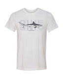 t-shirt blanc requin bordé