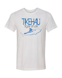 Tiger shark diving t-shirt Tikehau Polynesia White