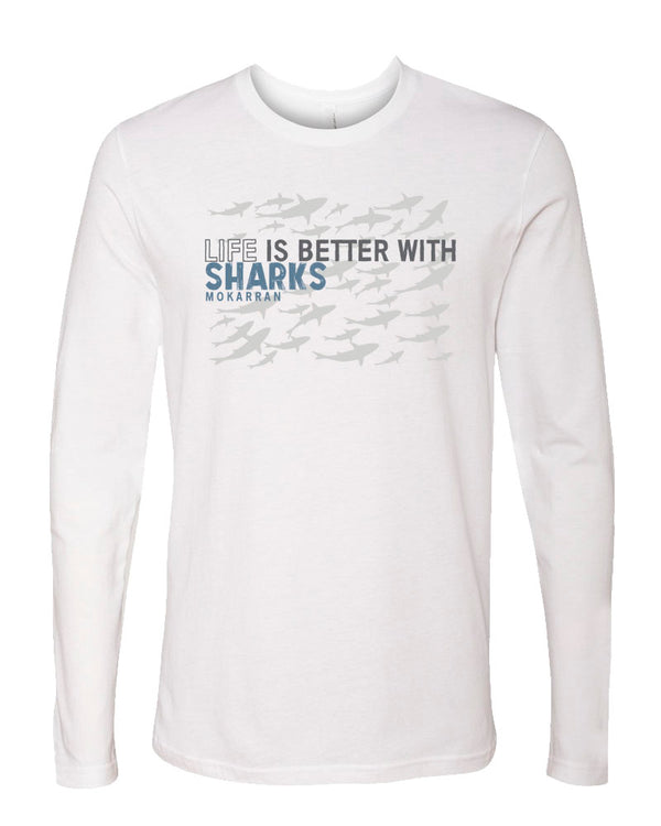 T-shirt manches longues Life is Better With Sharks