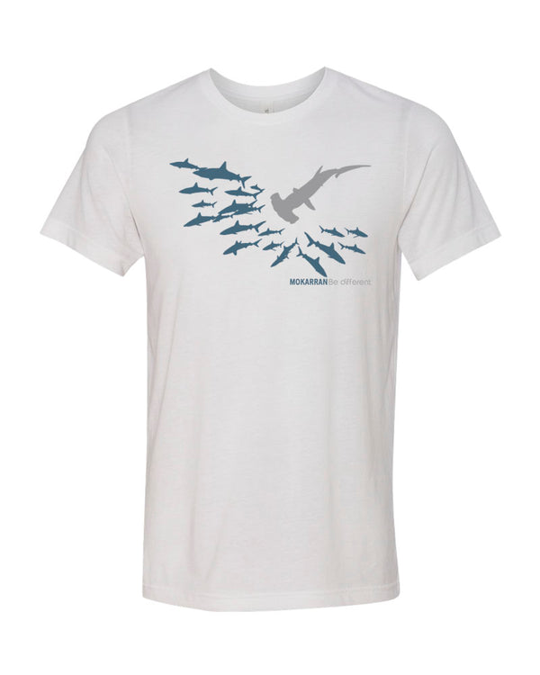 Tee shirt plongée requin marteau Be different blanc