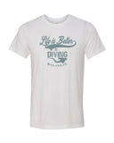 Life Is Better In Diving tee shirt blanc pour homme