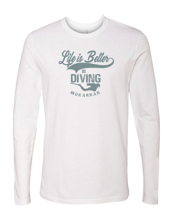 T-shirt manches longues Life is Better in Diving
