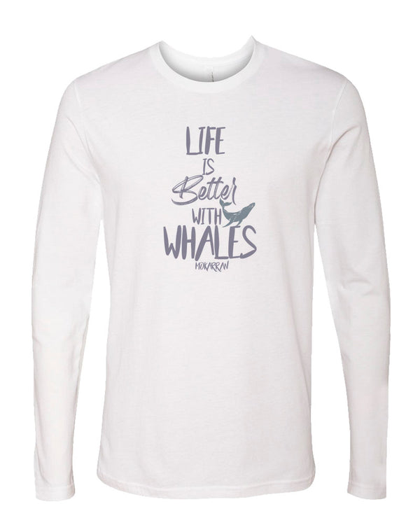 T-shirt manches longues Life is Better With Whales