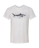 albimarginatus shark white t-shirt