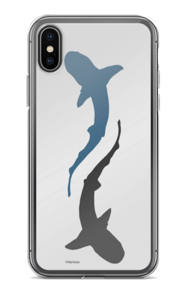coque d IPHONE requin logo shark blanc
