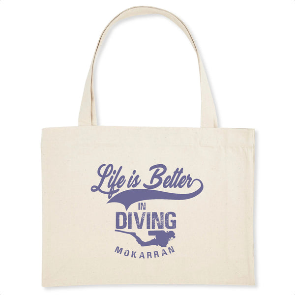 SHOPPING BAG LIFE IS BETTER IN DIVING
