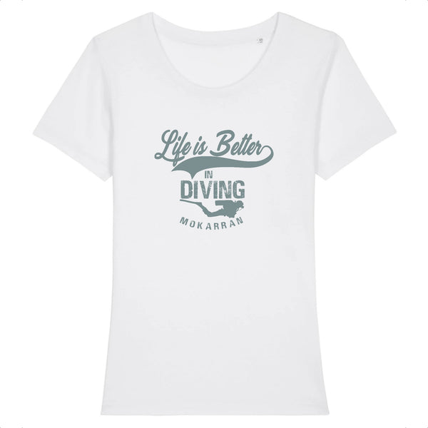 T-SHIRT COL ROND BIO LIFE IS BETTER IN DIVING
