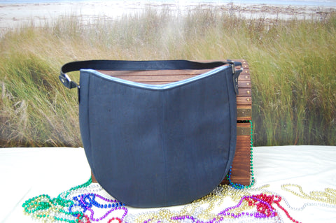Hobo  Bag in Blue Cork