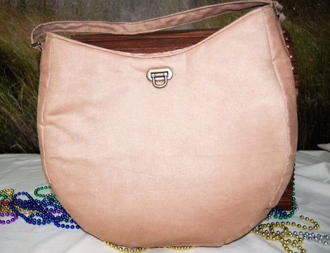 Hobo  Bag in Microfiber Suede