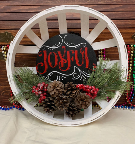 4019 Joyful Basket Wall Hanging