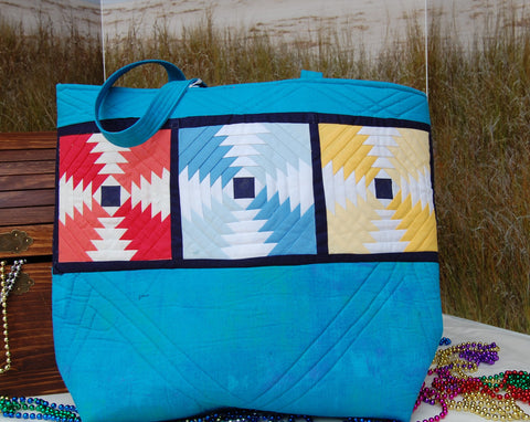 Tote - Pineapple Quilted Tote