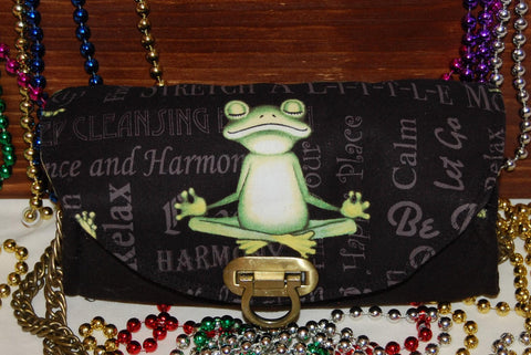 Yoga Frog Cork  Clutch/Wallet