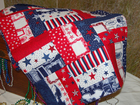 Table Runner - Red, white, and Blue Quilted