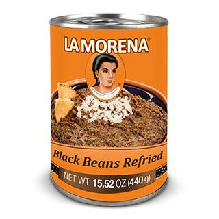 Beans Black Refried La Morena 440g