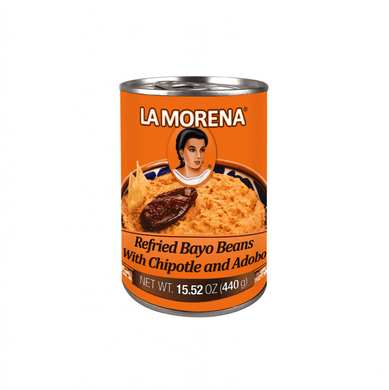 Beans Pinto Refried with Chipotle La Morena 440g