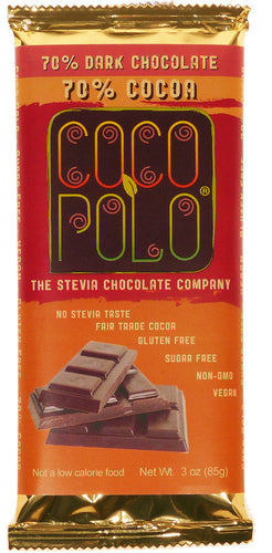 CocoPolo Sugar-Free Chocolate Bar (Multiple Flavors)