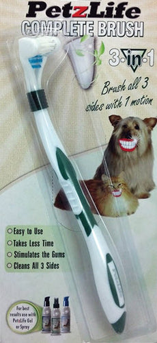 PetzLife 3 in 1 Complete ToothBrush