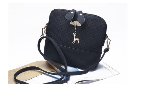Women's Messenger Fashion Bag with Mini Deer Toy