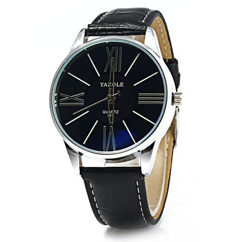 Yazole 315 Luxury Leather Watches Men Fashion Casual Sports Business