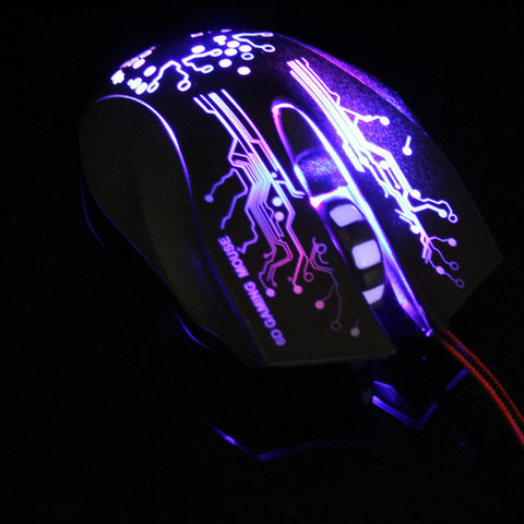 Gaming Mouse 3200DPI LED Optical 6D USB Wired Gamer