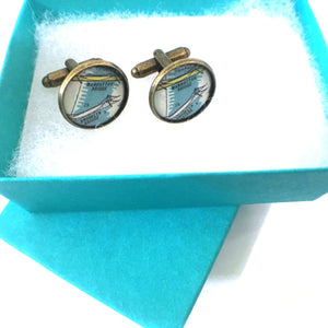 Bookmark - Brooklyn Bridge Vintage Map Cufflinks