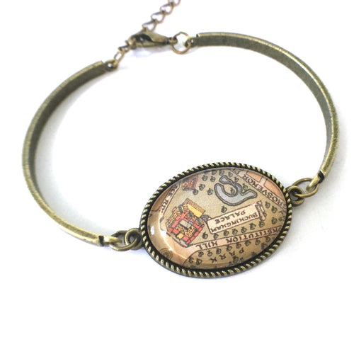Bookmark - Buckingham Palace Vintage Map Bracelet