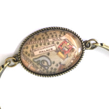 Load image into Gallery viewer, Bookmark - Buckingham Palace Vintage Map Bracelet