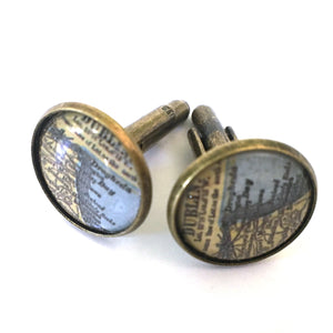 Bookmark - Dublin Vintage Map Cufflinks