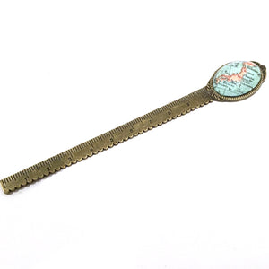 Bookmark - Japan Vintage Map Ruler And Bookmark