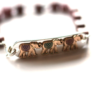 Bracelet - Elephant Bracelet // Delicate Beaded Bracelet // Motivational Gift